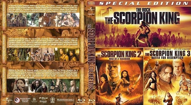 dvd cover The Scorpion King Trilogy