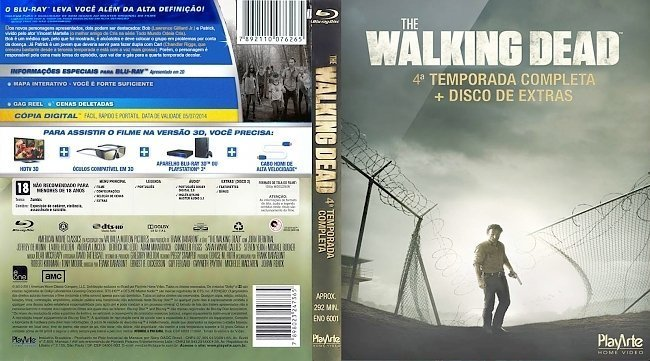 dvd cover The Walking Dead Brasil Blu-Ray