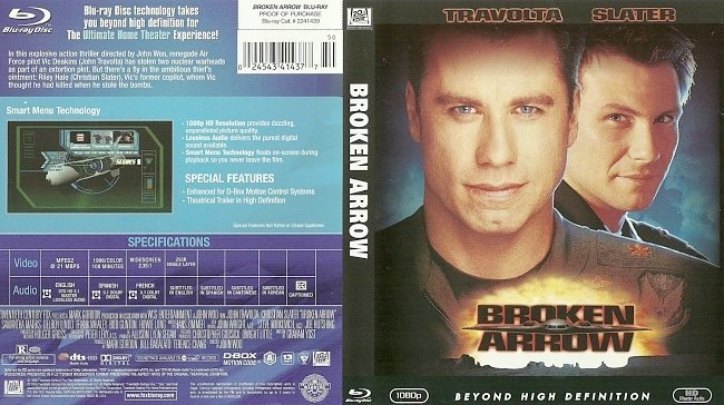 dvd cover Broken Arrow