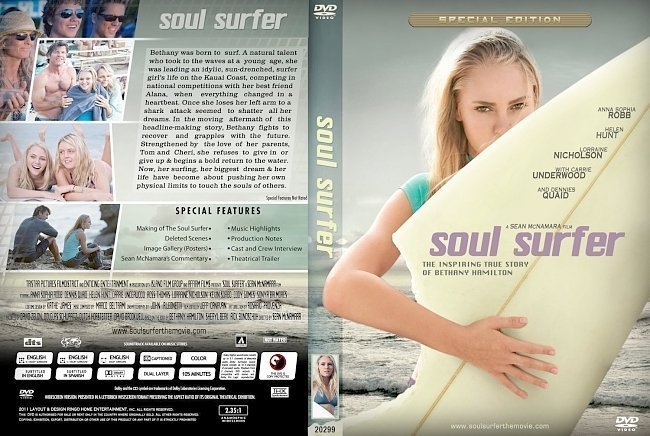 dvd cover soul surfer cover 2011 original