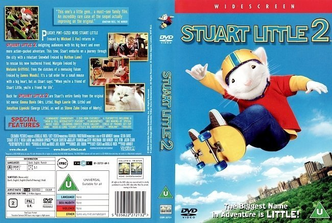 dvd cover Stuart Little 2 (2002) WS R2
