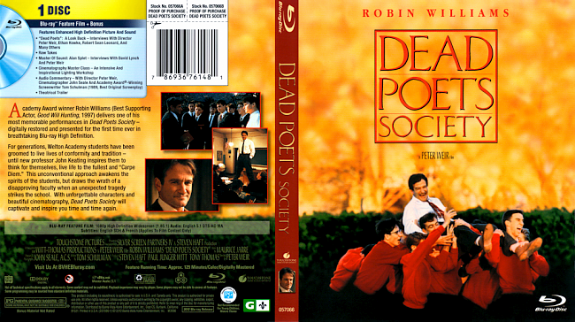 dvd cover Dead Poets Society