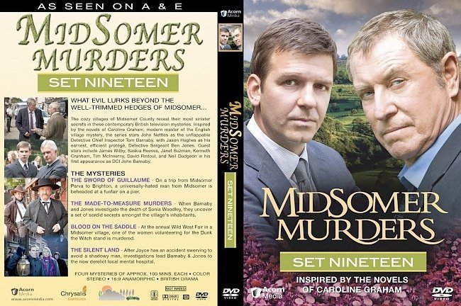 dvd cover Midsomer Murders Set 19