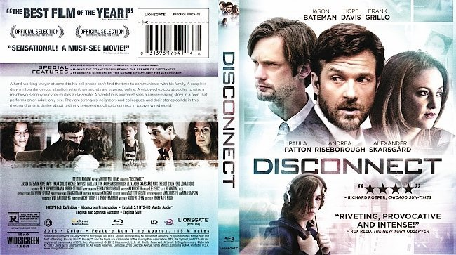 dvd cover Disconnect R1 Blu-Ray DVD