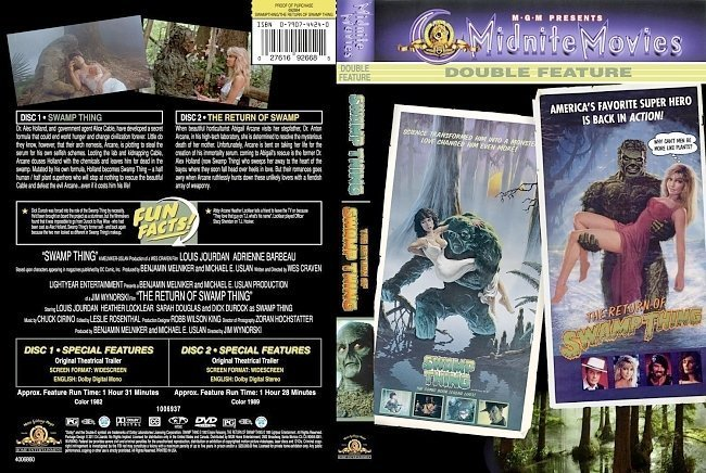 dvd cover Swamp Thing/Return OF Swamp Thing