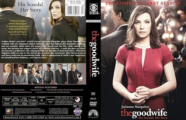 dvd cover The good wife: Season one - Front