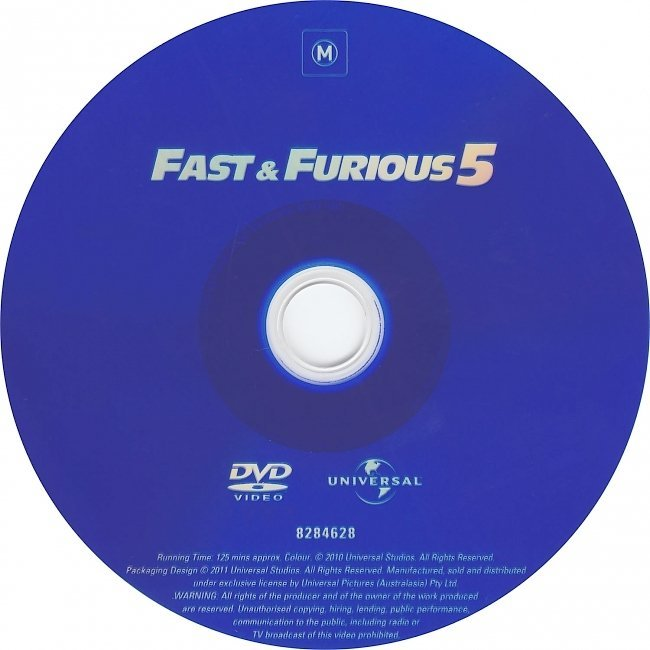 dvd cover Fast & Furious 5 (2011) R4