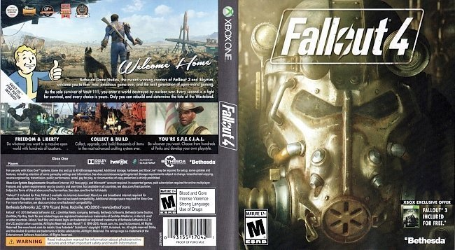 dvd cover Fallout 4 NTSC XBOX ONE
