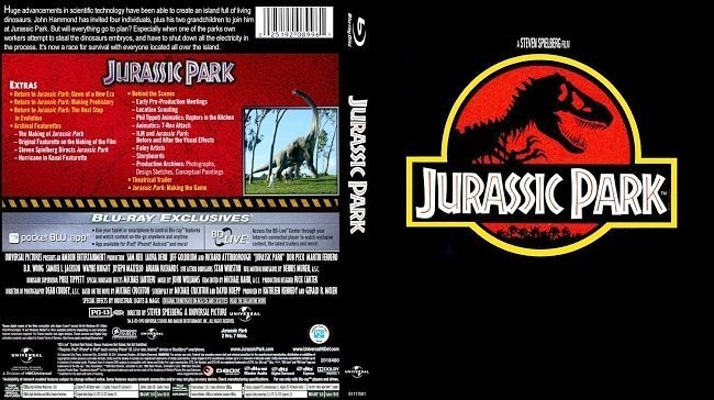 dvd cover Jurassic Park Bluray