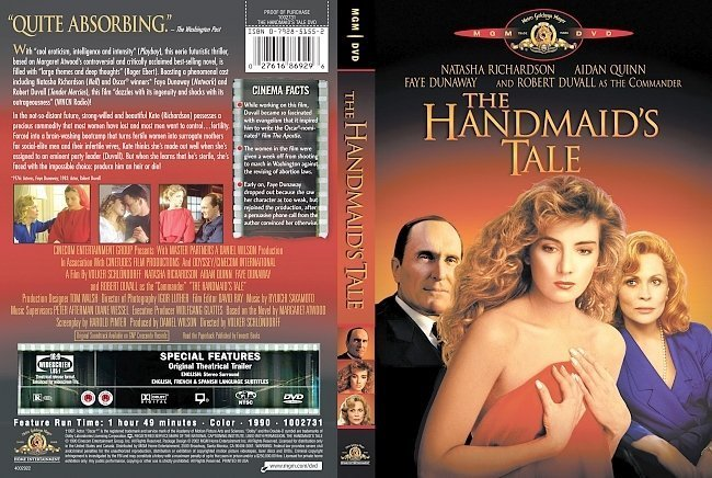 dvd cover The Handmaid's Tale - Front