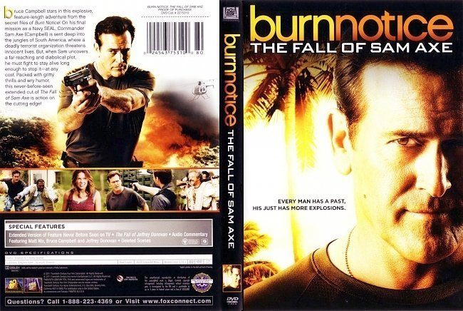dvd cover Burn Notice The Fall of Sam Axe