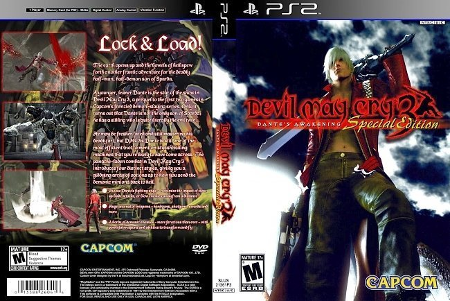 dvd cover Devil May Cry 3