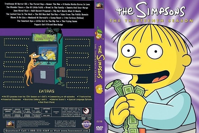 dvd cover The Simpsons Season 13 R1