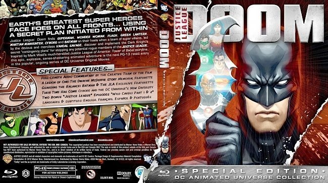 dvd cover Justice League Doom