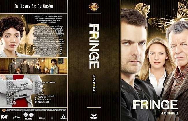 dvd cover Fringe Season 3