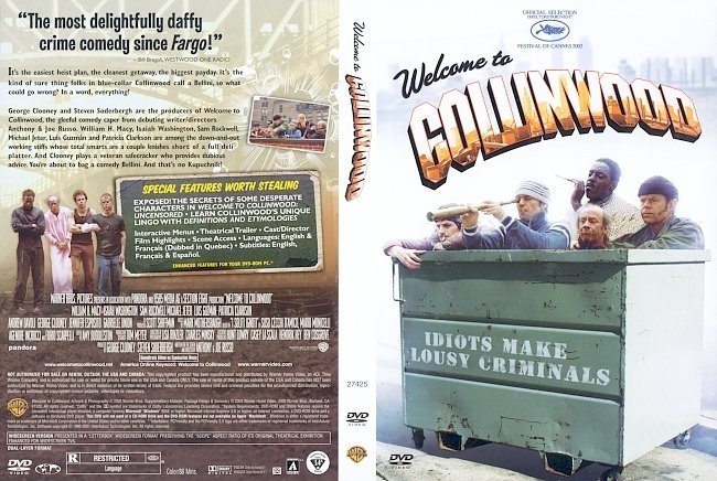 dvd cover Welcome to Collinwood (2002) WS R1