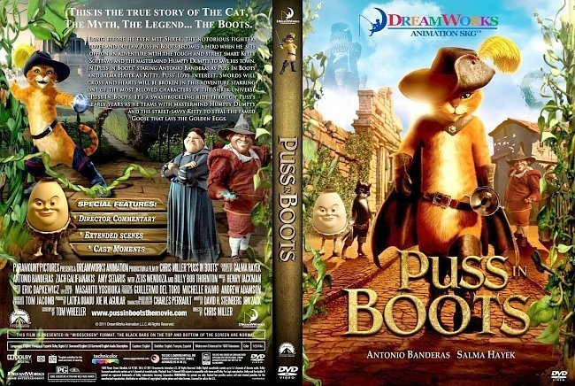dvd cover Puss In Boots