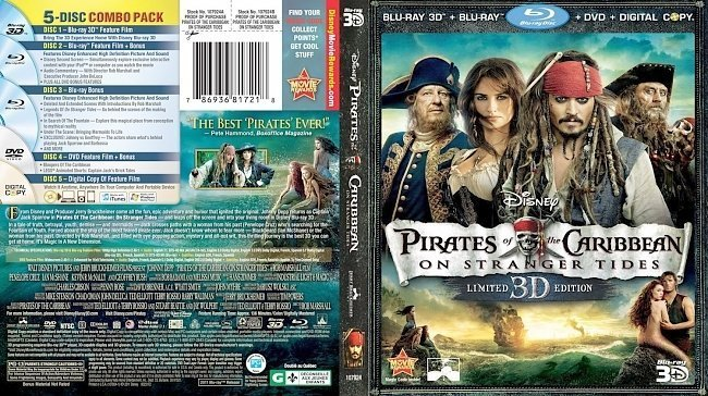 dvd cover Pirates Of The Caribbean On Stranger Tides 3D