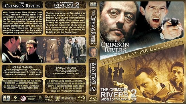 dvd cover The Crimson Rivers Double Feature