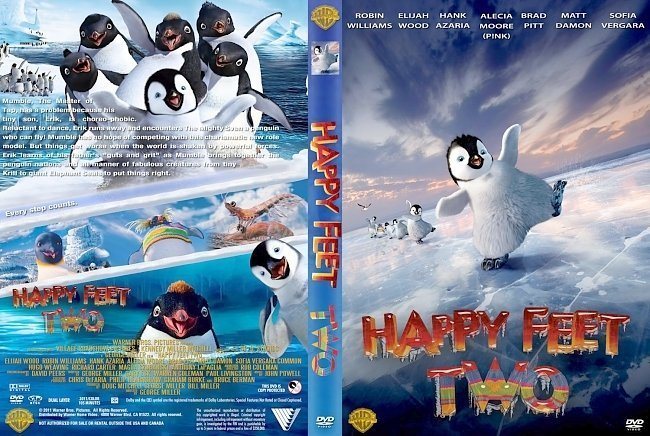 dvd cover Happy Feet Two