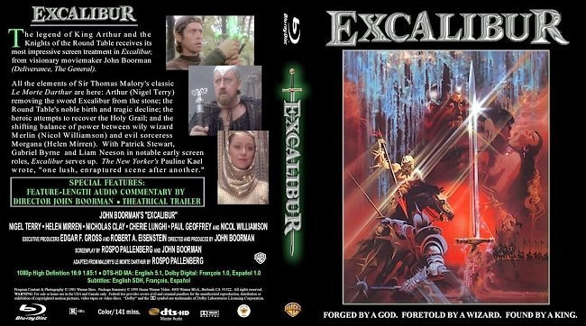 dvd cover Excalibur Blu ray