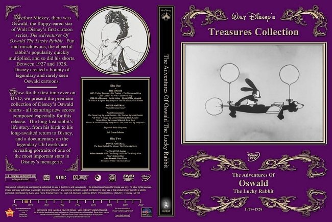 dvd cover The Adventures Of Oswald The Lucky Rabbit