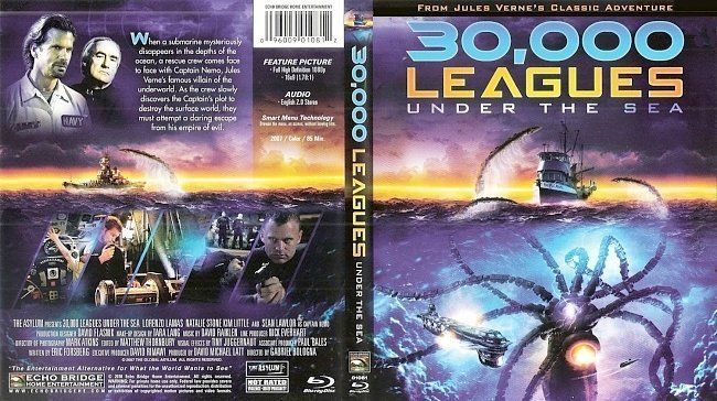 dvd cover 30,000 Leagues Under The Sea