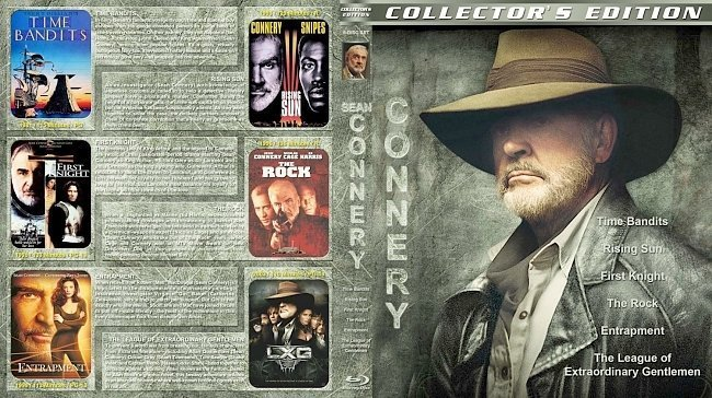 dvd cover Sean Connery Collection