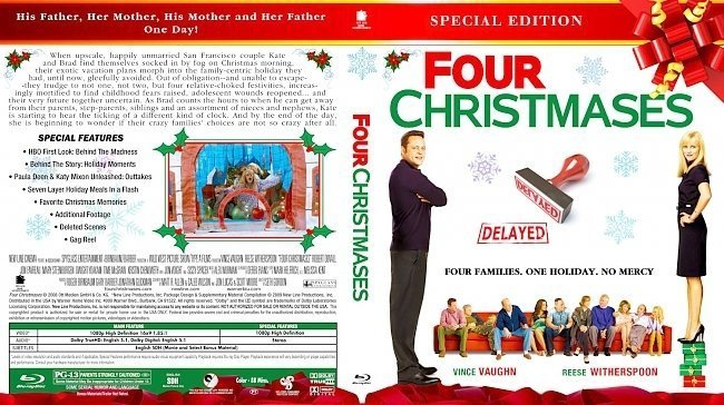 dvd cover Four Christmases