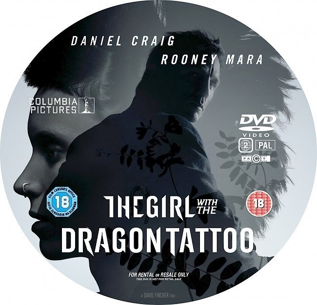 dvd cover The Girl With The Dragon Tattoo (2011)