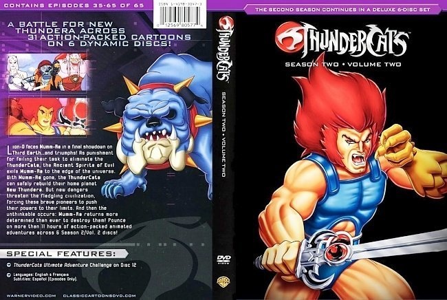 dvd cover Thundercats Season 2