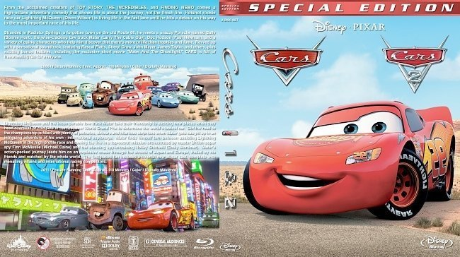 dvd cover Cars / Cars 2