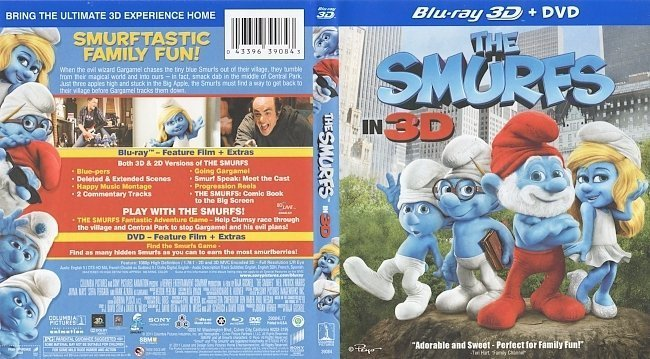 dvd cover The Smurfs 3D (2011) R1