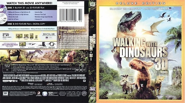 dvd cover Walking with Dinosaurs 3D R1 Blu-Ray