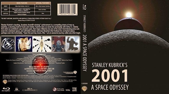 dvd cover 2001: A Space Odyssey