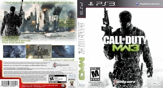 dvd cover Call of Duty Modern Warfare 3 NTSC f