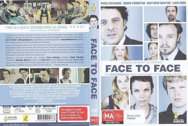 dvd cover Face To Face (2011) R4