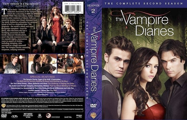 dvd cover The Vampire Diaries Season 2 R1 Slim 6 Disc
