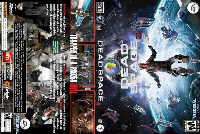 dvd cover Dead Space 3