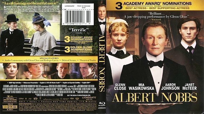 dvd cover Albert Nobbs