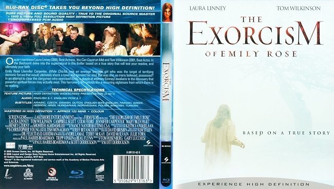 dvd cover The Exorcism Of Emily Rose