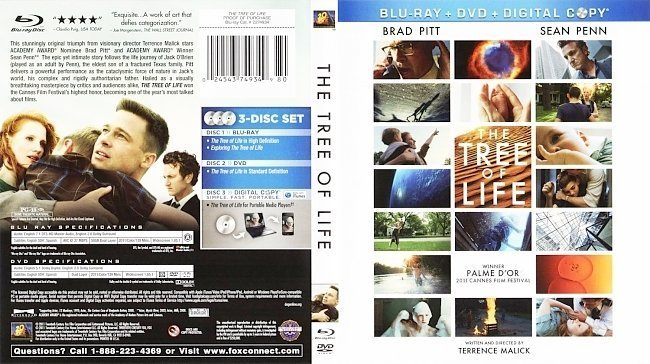 dvd cover The Tree Of Life