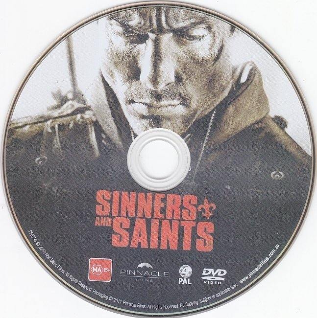 dvd cover Sinners And Saints (2010) R4