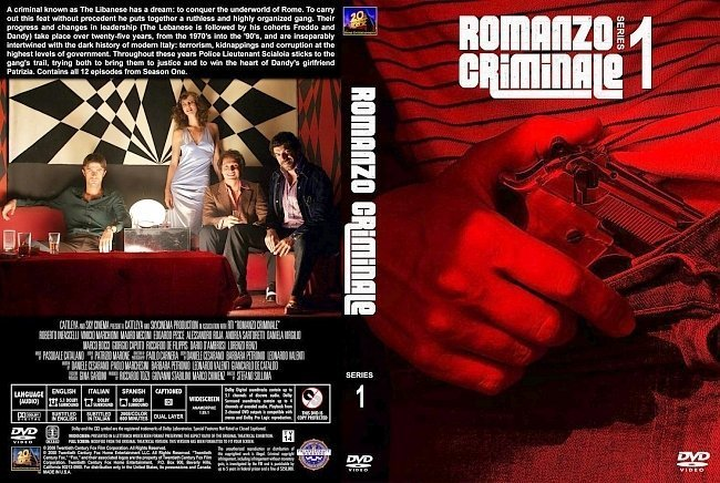 dvd cover Romanzo Criminale Series 1