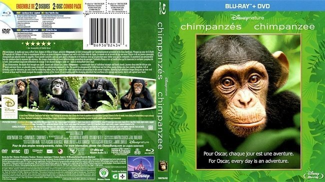 dvd cover Chimpanzee Canadian Bluray