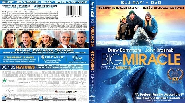 dvd cover Big Miracle Le Grand Miracle