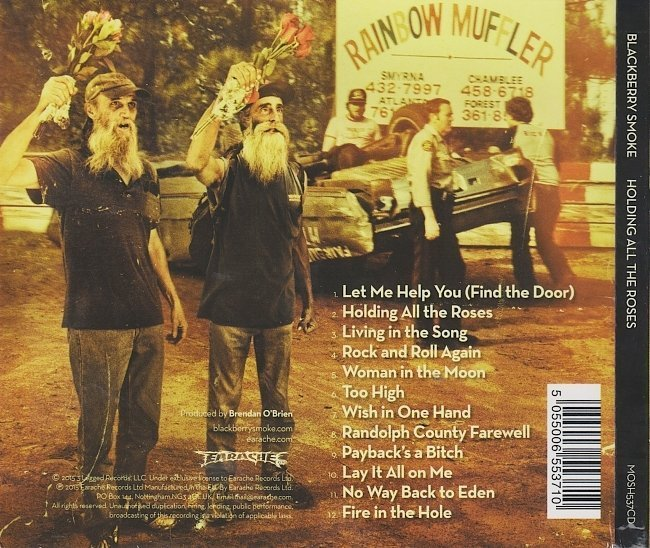 dvd cover Blackberry Smoke - Holding All The Roses