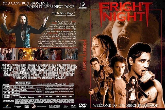 dvd cover Fright Night (2011)