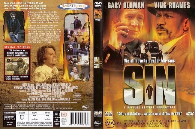 dvd cover Sin (2002) WS R4