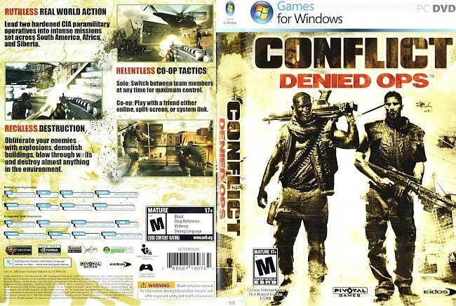 dvd cover Conflict Denied OPS